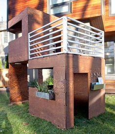 idée de jardin et aire de jeux pour enfants