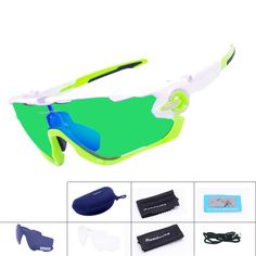 새로운 브랜드 편광 자전거 선글라스 산악 자전거 고글 3 렌즈 스포츠 안경 MTB 자전거 실행 사이클링 안경