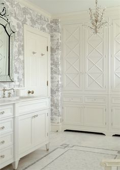 Laurel Bern Interiors bronxville-bath-door - Benjamin Moore White Dove - Best shades of White Paint