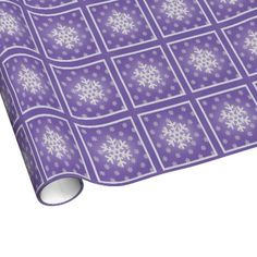 Purple: Snowflakes Wrapping Paper