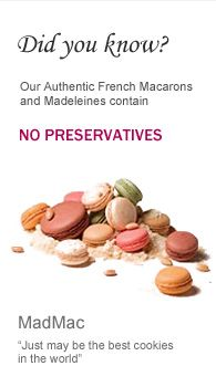 Buy Macarons online from MadMac, owned by Florian Bellanger, chef and judge of Cupcake Wars.  These are the BEST!