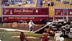 Evel Knievel at the Los Angeles Memorial Coliseum. Robbie Knievel, Evil Kenevil, Pool Movie, American Gladiators, Don Knotts, American Legend, Daredevil, Custom Motorcycles, Movie Stars