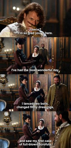 """""""I've had the most wonderful day"""" - Claire, Murtagh, Jamie and Suzette #Outlander"""
