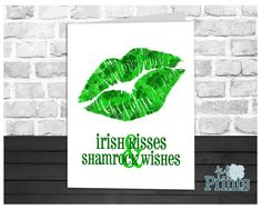 This Irish Kisses & Shamrock Wishes St. Patricks Day card is the perfect card to send to your friends and family this March! Featuring the words Irish Kisses & Shamrock Wishes beneath some clover patterned lips will have you celebrating St. Patricks Day all month with lots of leprechaun smooches!  Looking for a last minute card? This printable card is perfect! You can print it in your own home or your local print shop and print as many as you need! Did you forget someone on your list?...