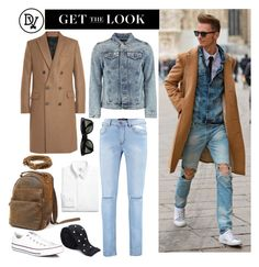 """Fashion Week Look"" by dappervigilante ❤ liked on Polyvore featuring Converse, Ray-Ban, Brooks Brothers, AMI and Sanders"