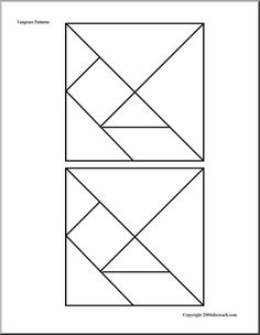 Tangrams - Free Downloadable, Create-Your-Own Activities for Kids --Tangrams Puzzle pieces.
