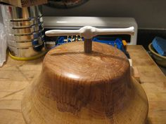 A quick instructable on how to build a simple tool to thread turned wooden lamps. This tool makes wiring wooden lamps very easy.