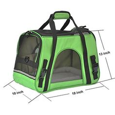 Pet Carrier PYRUS SoftSided Kennel Cab Folding Soft Dog Crate Pet Travel Carrier Bag for Dogs Cats and Puppies  Green  *** Continue to the product at the image link.