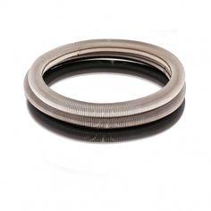 Set de 3 bracelets gris et noir