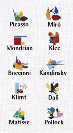 #PICASSO #MIRO #MONDRIAN #KLEE #BOCCIONI #KANDINSKY #KLIMT #DALI #MATISSE #POLLOCK   Famous Design and Bauhaus Architecture by www.bauhaus-movement.com