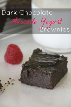 The Sweet {Tooth} Life: Dark Chocolate Avocado Yogurt Brownies