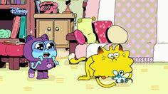 Falsyfikot  Max Zadowolony z siebie, nieco zadufany kot, który mieszka z młodym kosmitą Garkiem.  Gark Gark ma 9 lat i jest kosmitą. Ponieważ jest trochę naiwny, jego kumpel Max często nim manipuluje.   Betty To starsza Pani, z którą mieszkają Max i Gark. Typ serialu : śmieszny/animowany. Więcej w : Disney Channel.