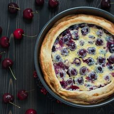 Cherry Clafoutis is easy to make and perfect for breakfast, brunch or dessert.