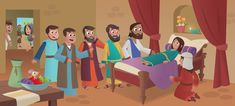 """In the latest story from the Bible App for Kids, """"Time to Get Up,"""" Jesus heals the daughter of a leader in the temple."""