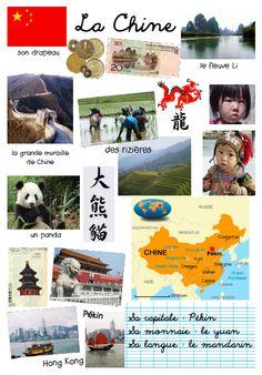 Projet Tour du Monde - la Chine (visuel et ludique).