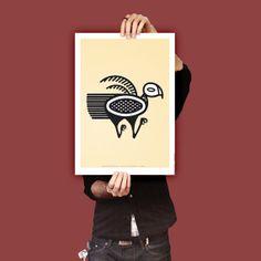 Bird Precolumbian Design. Argentine. Ilustration by DigitalDraft, $22.00