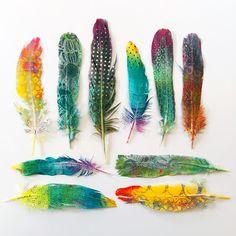 Printing with Gelli Arts®: Gelli® Printing on Feathers