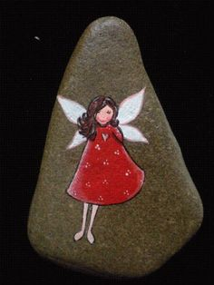 painted rock | Angels | Pinterest | Gardens, Angel and Rocks