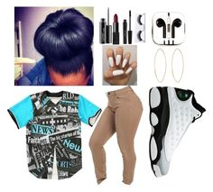 """""""blue at 8:20"""" by cutie-864 ❤ liked on Polyvore featuring Retrò, PhunkeeTree, MAC Cosmetics, NARS Cosmetics and Lana"""