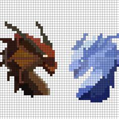 Dragons Perler Bead Pattern | Bead Sprites | Animals Fuse Bead Patterns