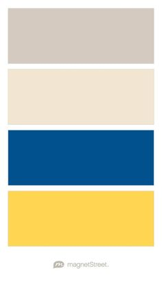 Sugar, Champagne, Royal, and Marigold Wedding Color Palette - custom color palette created at MagnetStreet.com