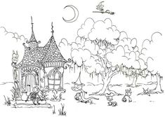 Halloween Day, : Witch House Welcoming Halloween Day Quest Coloring Page Nick Jr Coloring Pages, Forest Coloring Pages, Diy Coloring Books, House Colouring Pages, Pumpkin Coloring Pages, Farm Animal Coloring Pages, Cat Coloring Page, Online Coloring Pages, Adult Coloring Book Pages