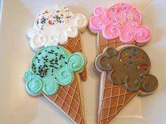 Summer Fun!  Ice Cream Cone Cookies! Keywords:  #weddingreceptiondessertideas #jevelweddingplanning Follow Us: www.jevelweddingplanning.com  www.facebook.com/jevelweddingplanning/