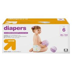 up & up® Diapers Giant Pack (Select Size) Size 7 Diapers, Diaper Sizes, Diaper Brands, Turn Blue, Wipe Away, Little Ones, The Selection, Target, Packing