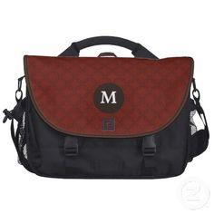 Elegant Monogram Pattern Laptop Bag by J32Design.com, #bags #elegant #monogram #pattern #zazzle