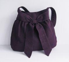 deep purple cotton bag