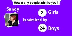 Find out how many people admire you