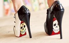 adorable, gamei nesse sapato, shoes, skull, skulls