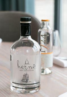 Hernö Navy Strength Gin og 1724 Tonic Water.