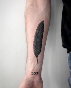 Algunas Ideas De Tatuajes De Plumas Para Hombres Tatuajes Para