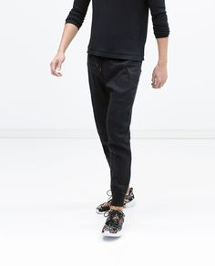 Image 2 of LINEN JOGGING PANTS from Zara