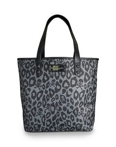 Rock any outfit with this trendy #Loungefly Black/Grey Skull Leopard Tote bag. Complete the look with a matching wallet!  http://www.loungefly.com/bags/view-all-bags/loungefly-black-grey-skull-leopard-tote-bag.html