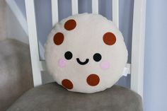 Chocolate Chip Cookie Plush Pillow Cute Food by hannahdoodle