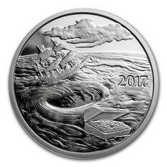 1 oz silver round - 2017 Silverbug Island whirlpool. Silver Investing, Silver Bullion, Silver Eagles, Silver Bars, Silver Rounds, Precious Metals, Coins, Island, American