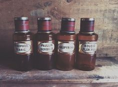 French vintage apothicary bottle pharmaco by Papeteriedeparis
