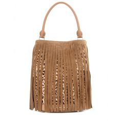 Burberry Prorsum - Fringed printed calf hair bucket bag - Make this animal-printed calf hair bucket bag from Burberry Prorsum the focal point of your ensembles this season. The long, sleek silhouette is the perfect carryall size for those busy days when you need to tote more than just the essentials. We love the way the fringe details stand out against an all-black outfit. seen @ www.mytheresa.com