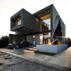 Modern House Design - House exterior - House Inspiration #casasminimalistasexterior