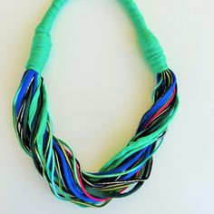 unique necklaces for woman modern fabric necklace bold by JIAKUMA