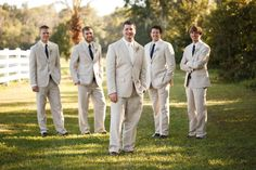 Country Wedding Groom and Groomsmen