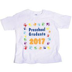 Handprint T-Shirt - Preschool Graduate cotton t-shirt will be every preschooler's favorite shirt both during and after graduation.