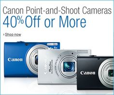 Save 40% Off or More on Canon Point-and-Shoot Cameras - Visit www.DigitalCameraExposure.com