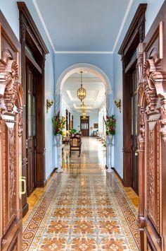 Casa Azul - Merida, Yucatan So loving blue and copper right now! Hacienda Decor, Mexican Hacienda, Hacienda Style, Mexican Style, Merida, Mexican Interior Design, Spanish Interior, Casa Hotel, Mexican Home Decor