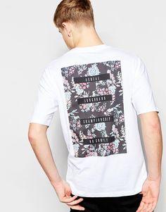 Image 1 ofJack & Jones Oversized T-Shirt with Back Floral Print