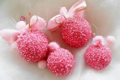 Pink Christmas Ornaments Pink Christmas