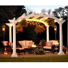 cape cod arched white pergola ***Repinned by Normoe, the Backyard Guy (#1 backyardguy on Earth) Follow us on; http://twitter.com/backyardguy