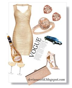 A fashion look from February 2018 featuring beige dress, evening shoes and pink handbags. Browse and shop related looks. Luxury Life, Badgley Mischka, Get The Look, Vogue, Polyvore, Style, Fashion, Swag, Moda